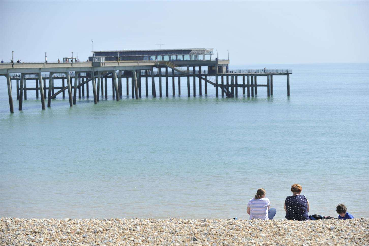 Deal seafront is among the areas of Kent to have been bathed in sunshine. Picture: Tony Flashman