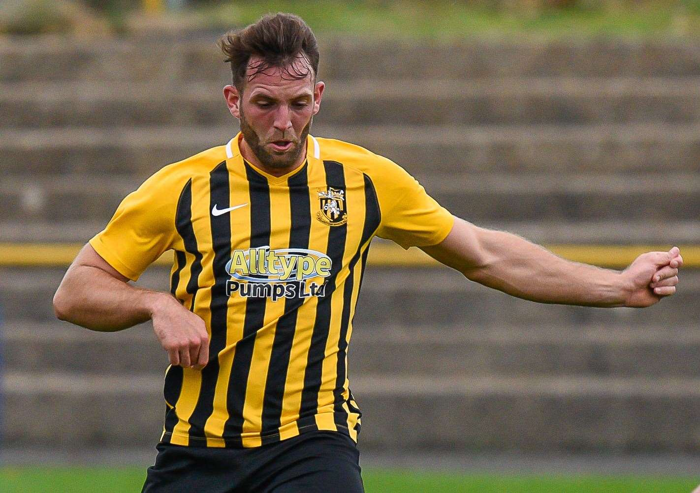 Folkestone Invicta right-back Josh Vincent Picture: Alan Langley