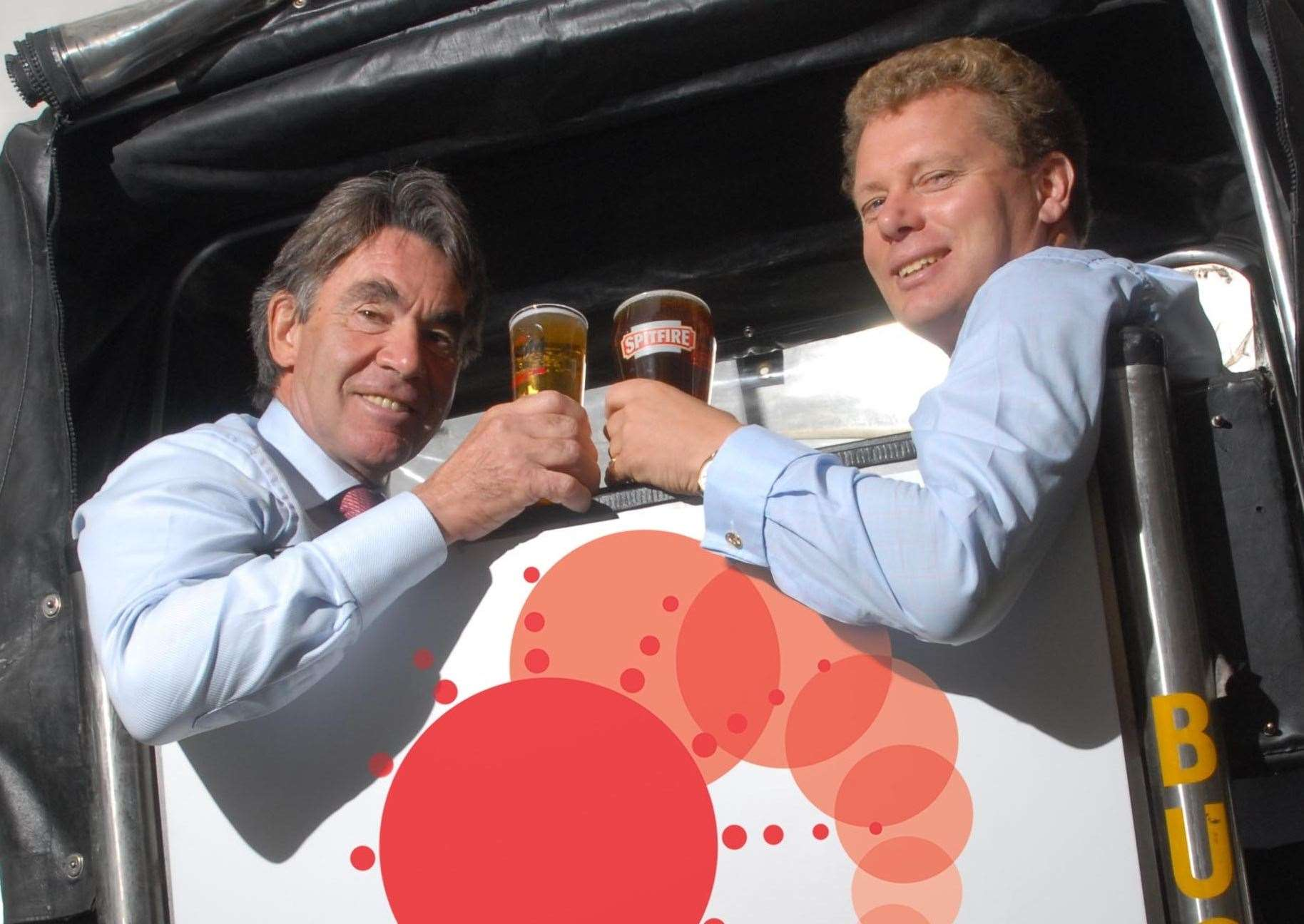 Shepherd Neame chairman Miles Templeman, left, and chief executive Jonathan Neame