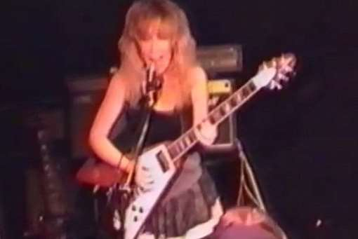 Chatham mum Sally Jones in a rock band in the early 1990s. Picture: YouTube