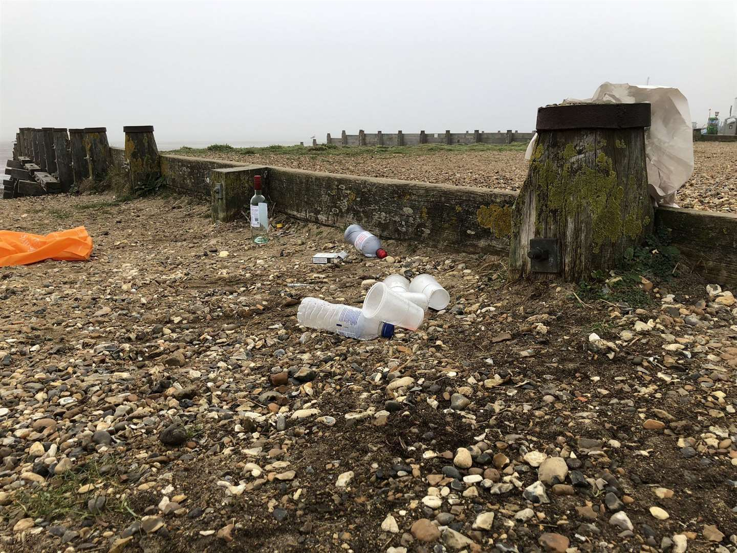 Litter left on Whitstable beach. Picture: David Cramphorn