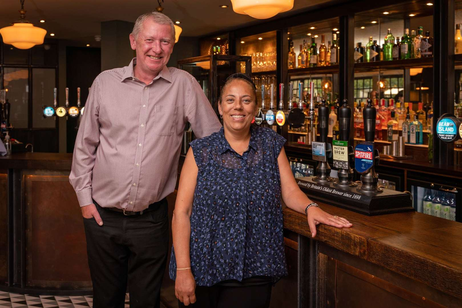 Marc and Tracy Watson have managed for the The Wharf pub in Dartford for more than 20 years. Photo: Frankie Julian