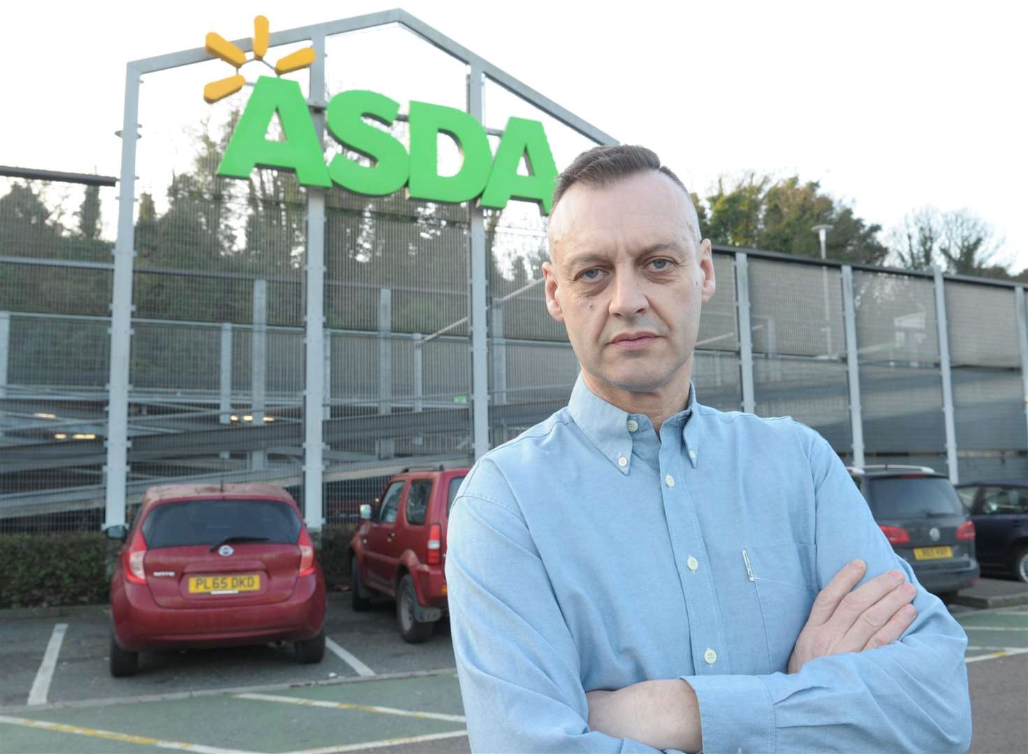 Neil Herridge has been accused of stealing plastic bags from Asda in Thames Way