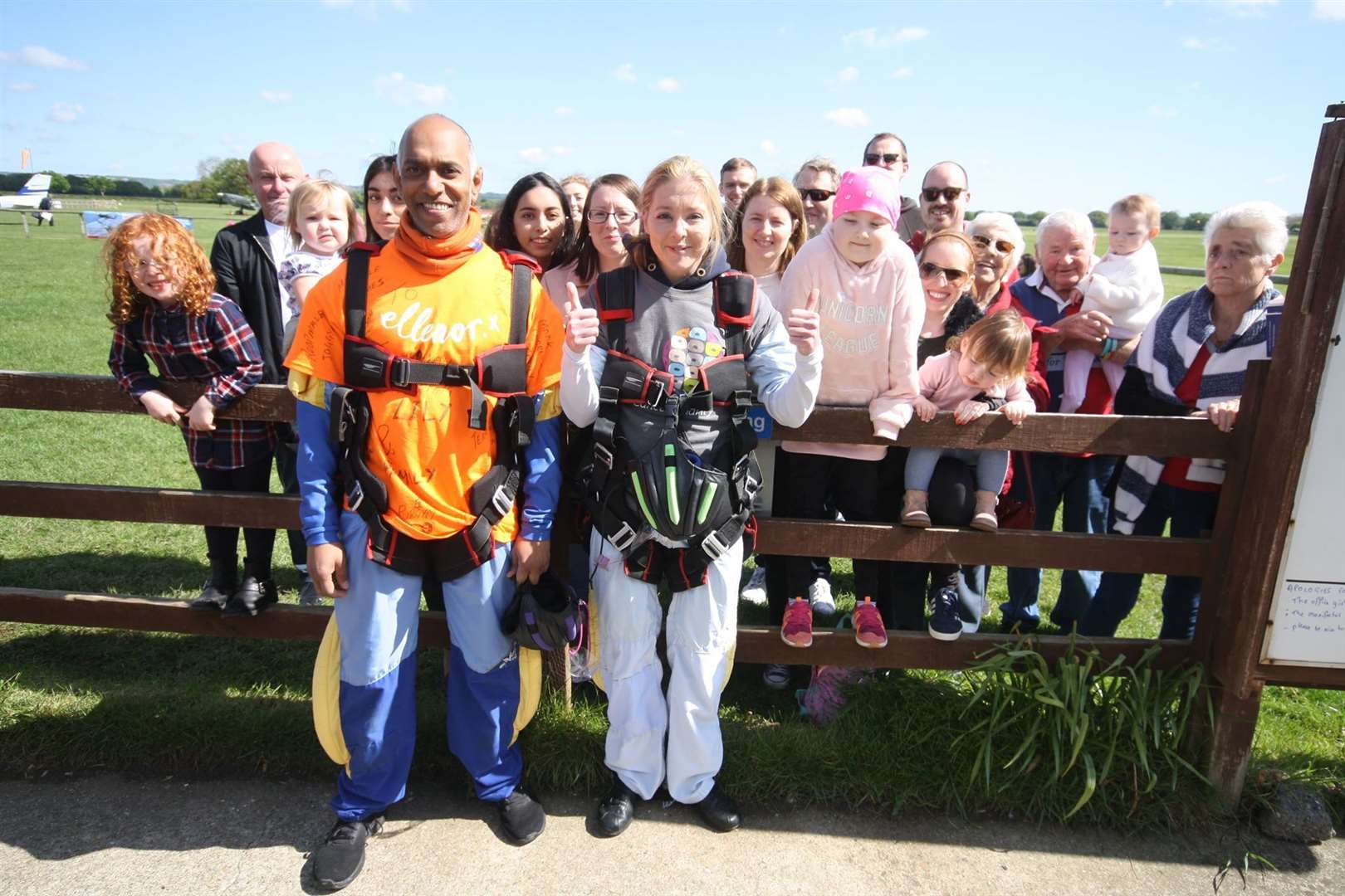 Sian was joined by her family and friends for the jump (10216445)