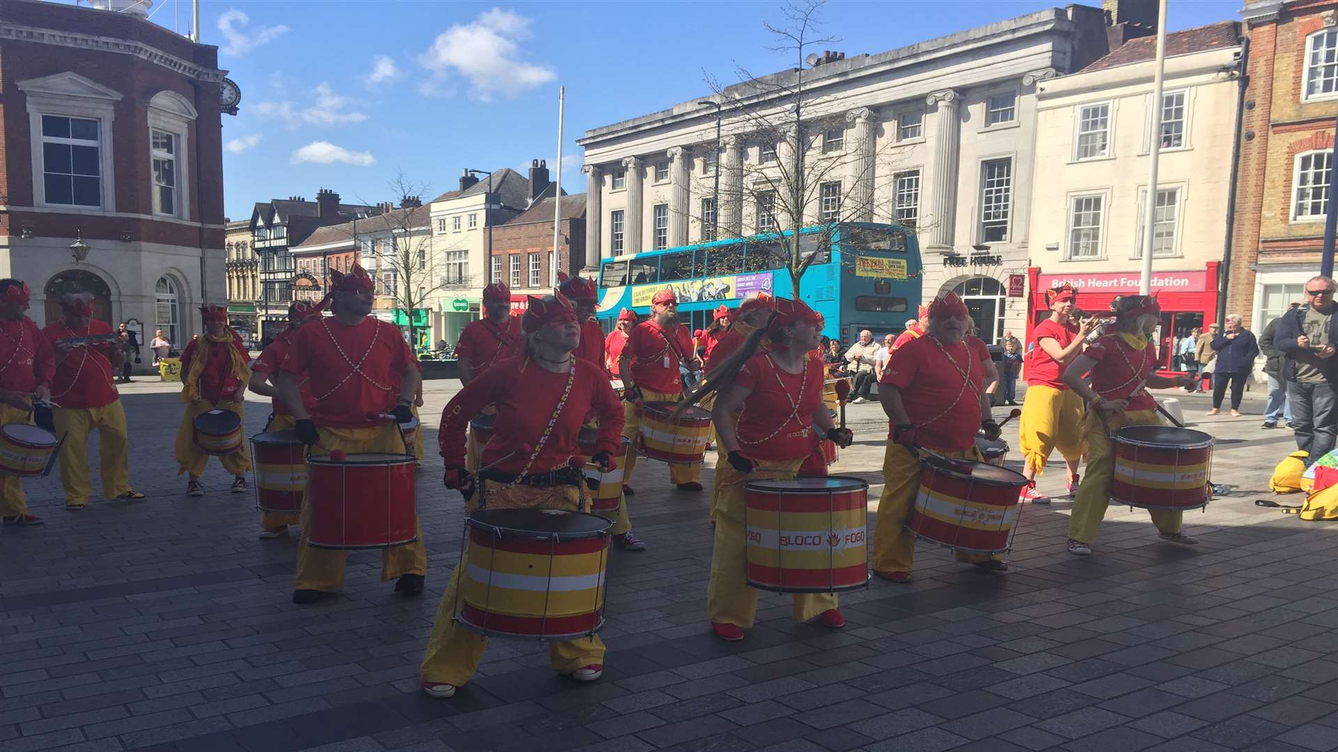 Bloco Fogo entertained crowds in Maidstone today.