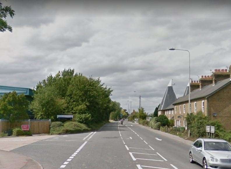 The cyclist was knocked over on the A2 in Teynham. Picture: Google.