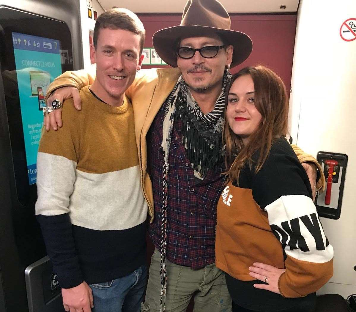 Dave and Roxanne King with Johnny Depp