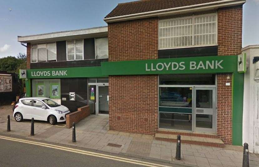 Lloyds Bank in Rainham High Street will close in November. PIcture: Google Maps (15358786)