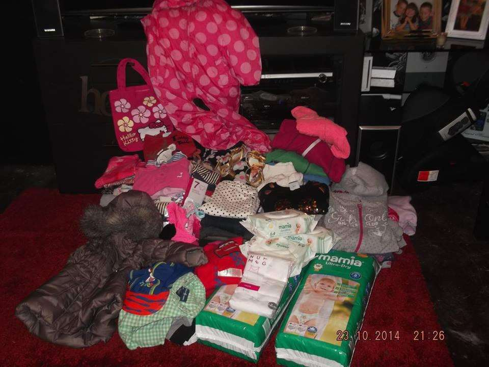 Some of the donations for Donna's family