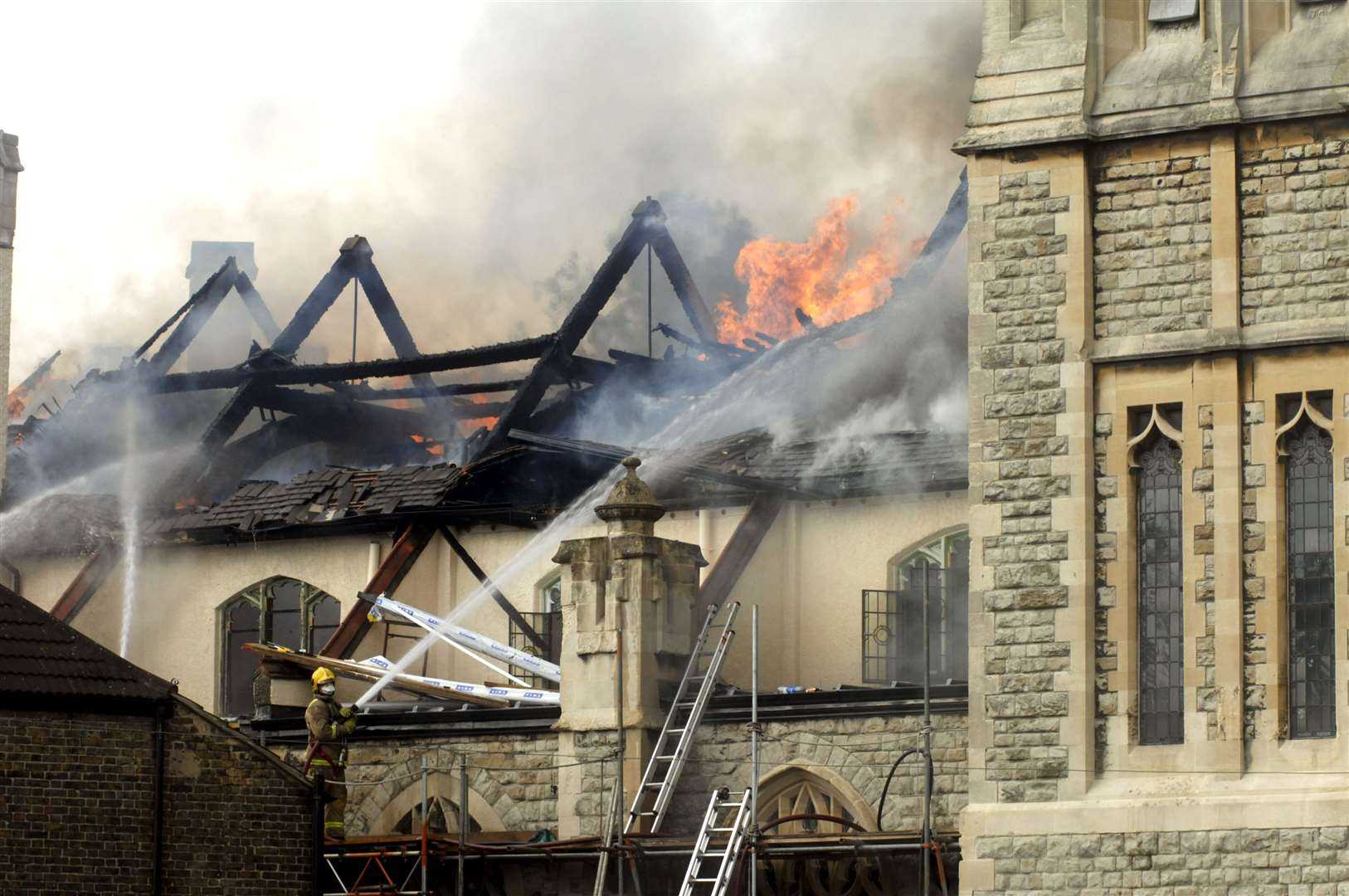 It took fire crews 12 hours to control the blaze 12 years ago. Picture: Terry Scott