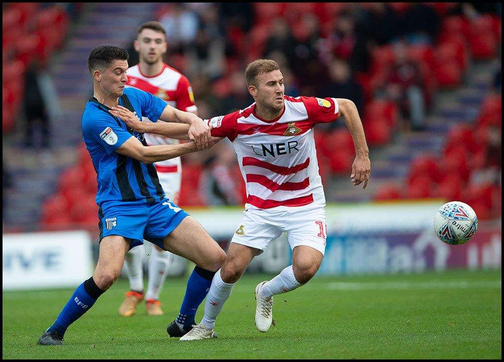 Doncaster v Gillingham match action Picture: Ady Kerry (4918347)