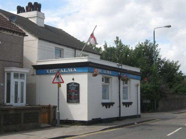 The Alma Public House in Swanscombe has been demolished and will be turned into a house of multiple occupancy. Photo: David Anstiss/ Wikimedia Commons