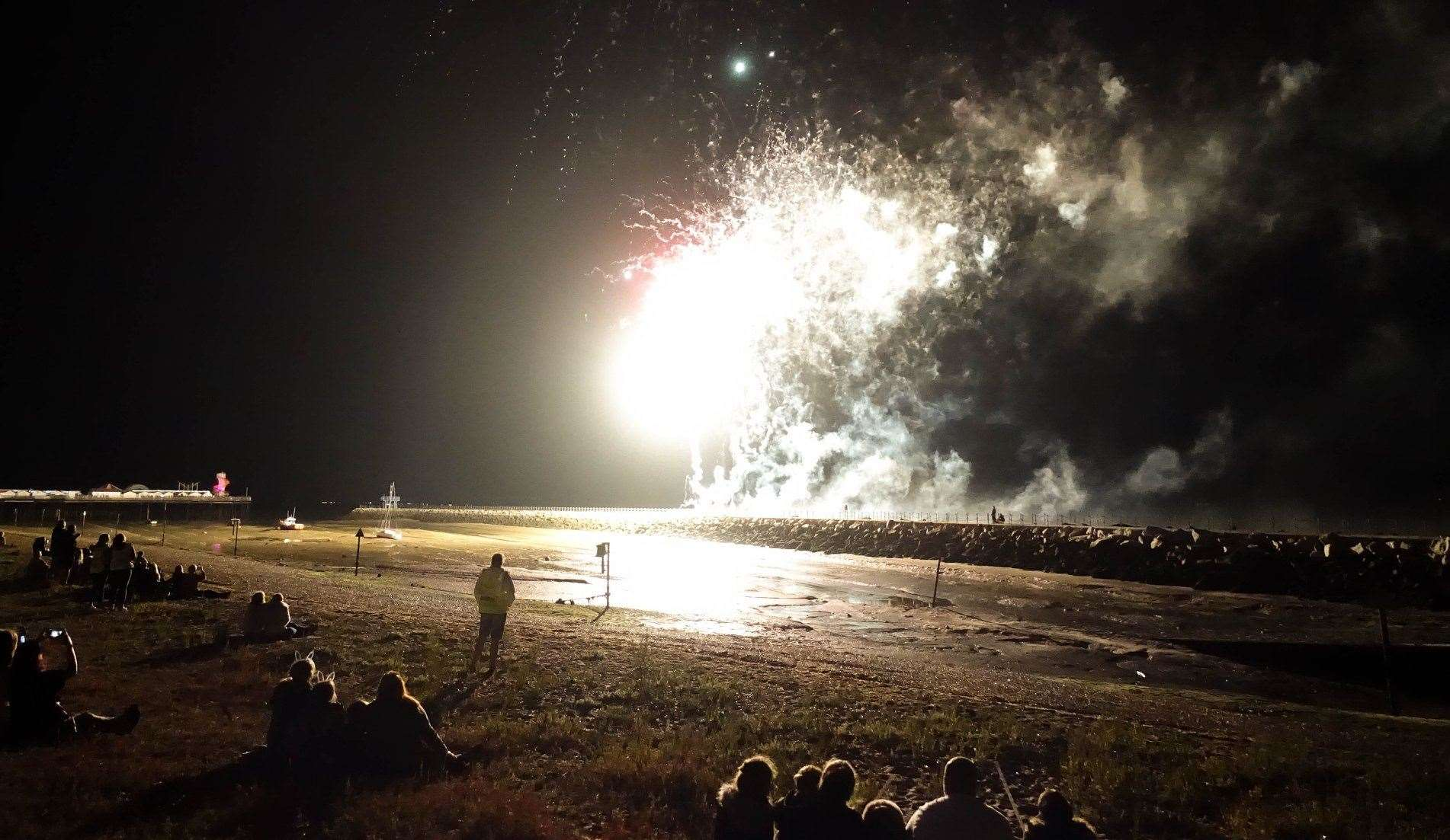 A previous fireworks display on the beach at Herne Bay Pic: Adrian Bennett