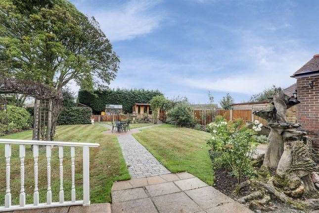 The property's rear garden. Picture: Zoopla / Harrisons Residential