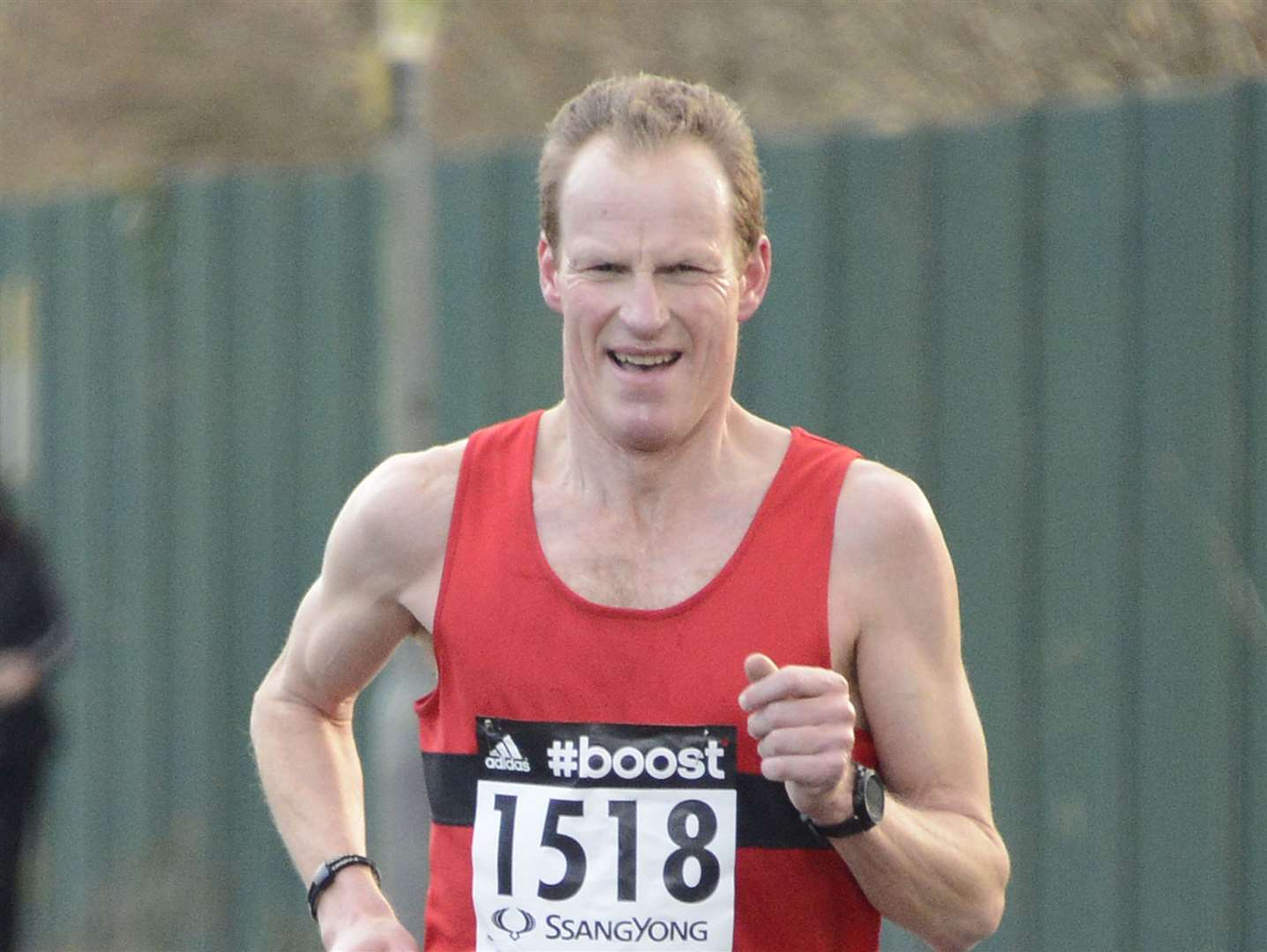 Leading the way for the men is Medway & Maidstone AC's Richard Tomlinson Picture: Paul Amos