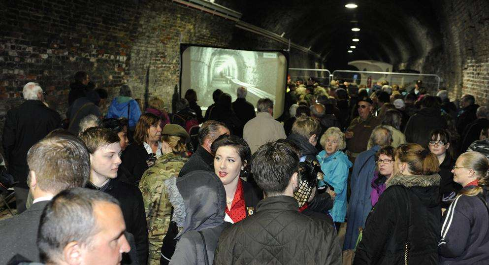 Visitors enter the reopened Ramsgate Tunnels