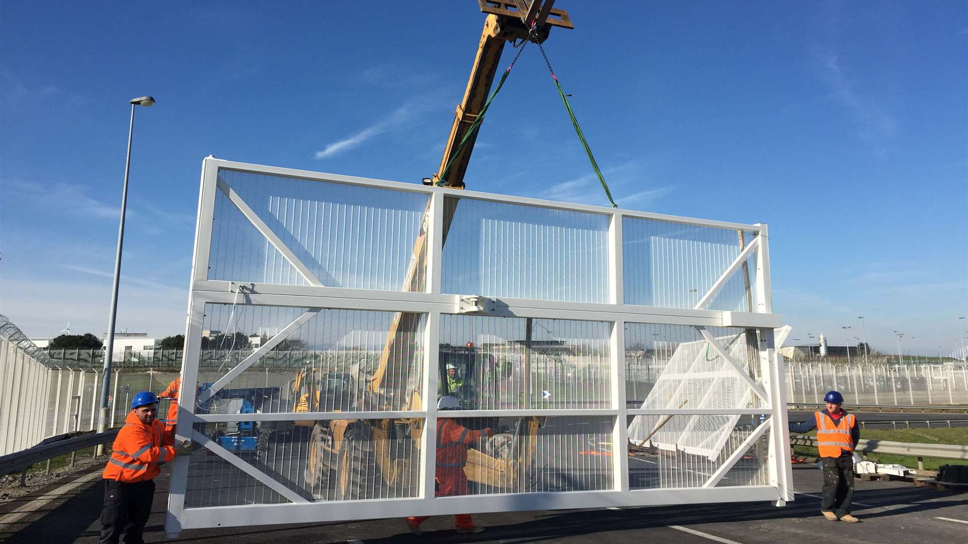 Each gate installed at Eurotunnel weighs a tonne