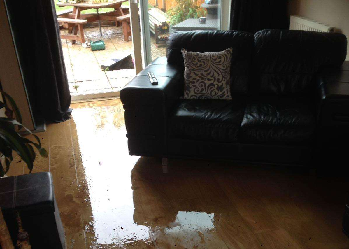 Sean Maxwell's flooded room at Sheerstone, Iwade