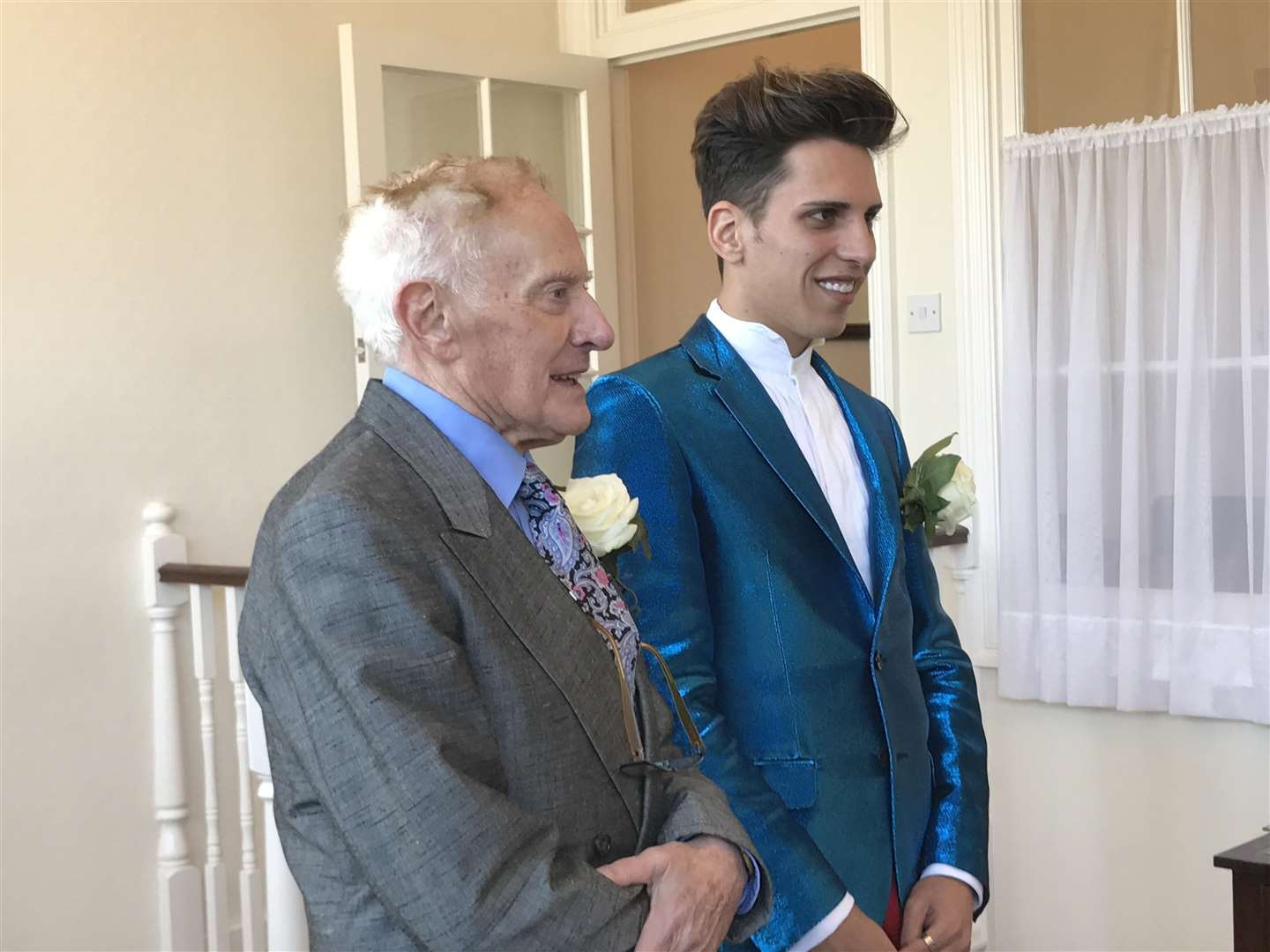 Philip Clements and Florin Marin on their wedding day