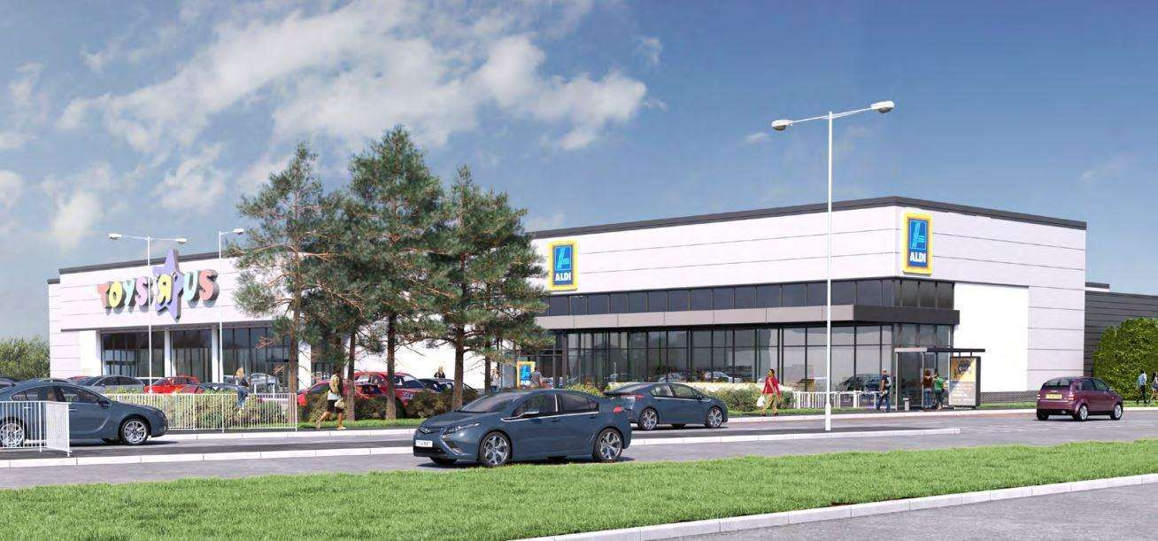 KFC and Aldi has been approved at Horsted Retail Park