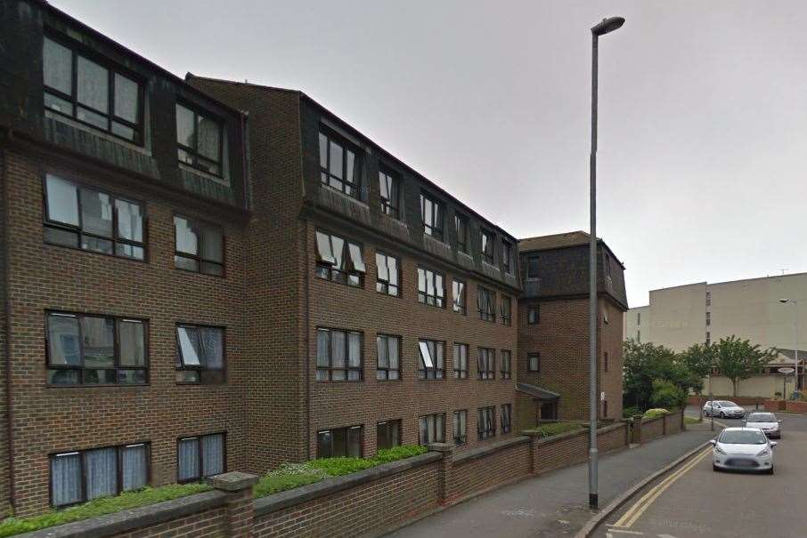 Grace Court in Folkestone where the alleged scaffolding theft occurred. Picture: Google Street View