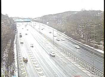 Snow on the M20. Picture: Highways England