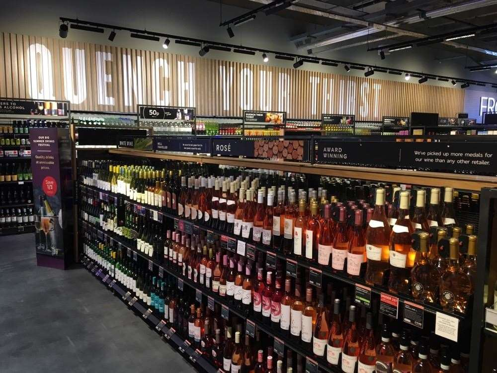 Wines, beers and spirits at the M&S Food Hall