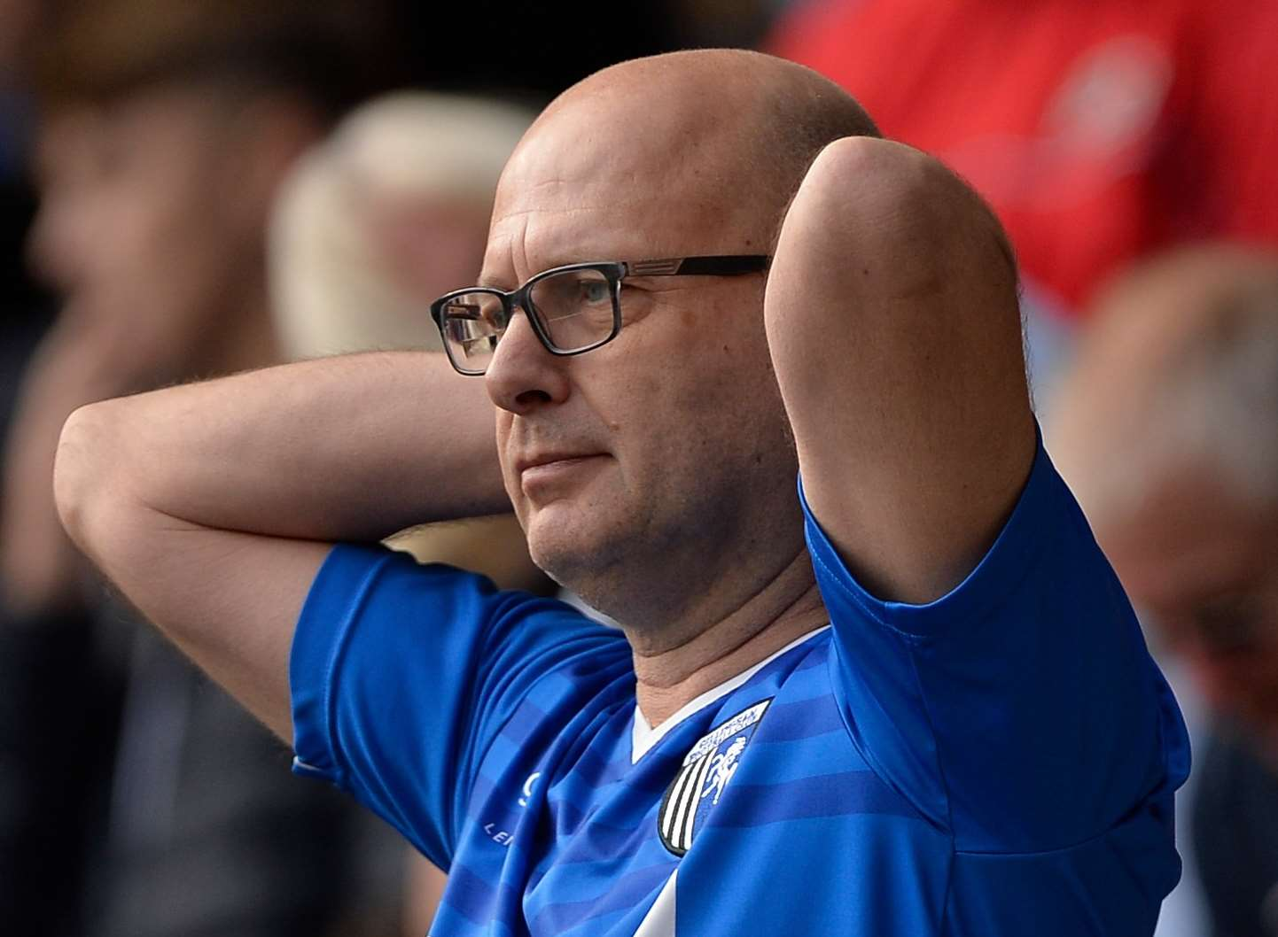 It was tough being a Gills fan at MK Dons on Saturday. Picture: Ady Kerry