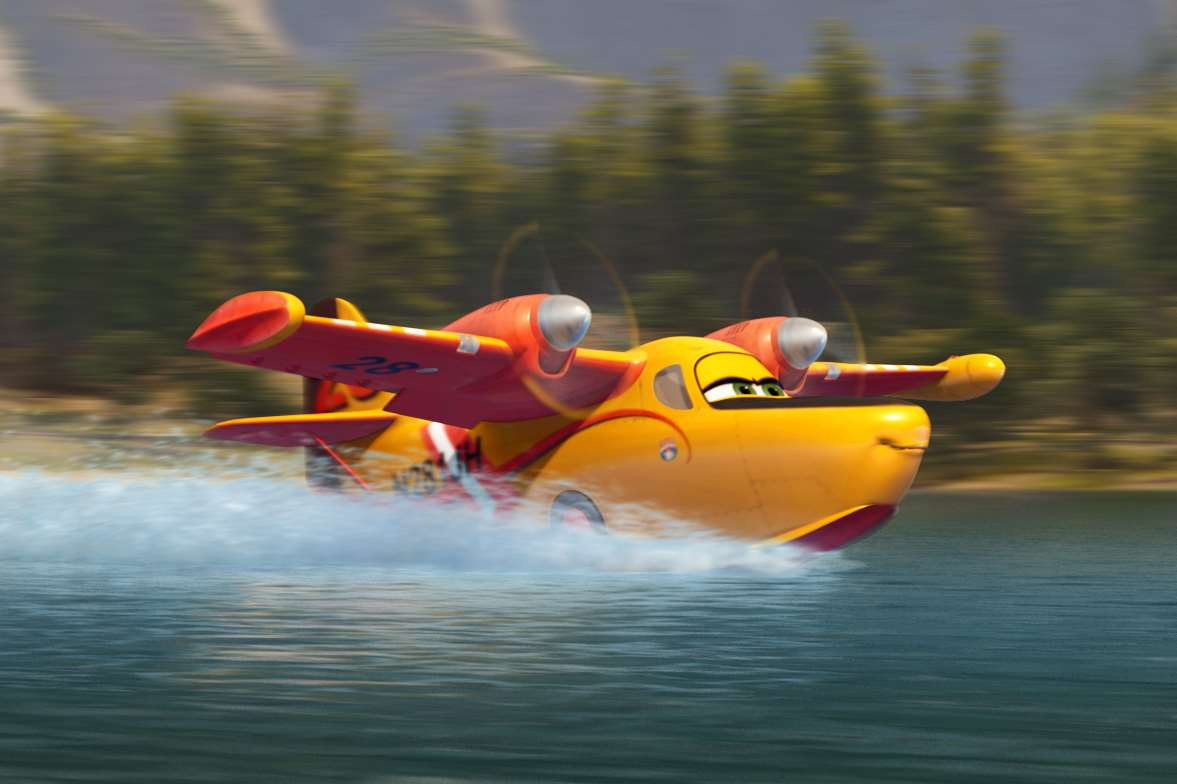 Dipper (voiced by Julie Bowen), in Planes 2: Fire & Rescue. Picture: PA Photo/Walt Disney Studios Motion Pictures UK