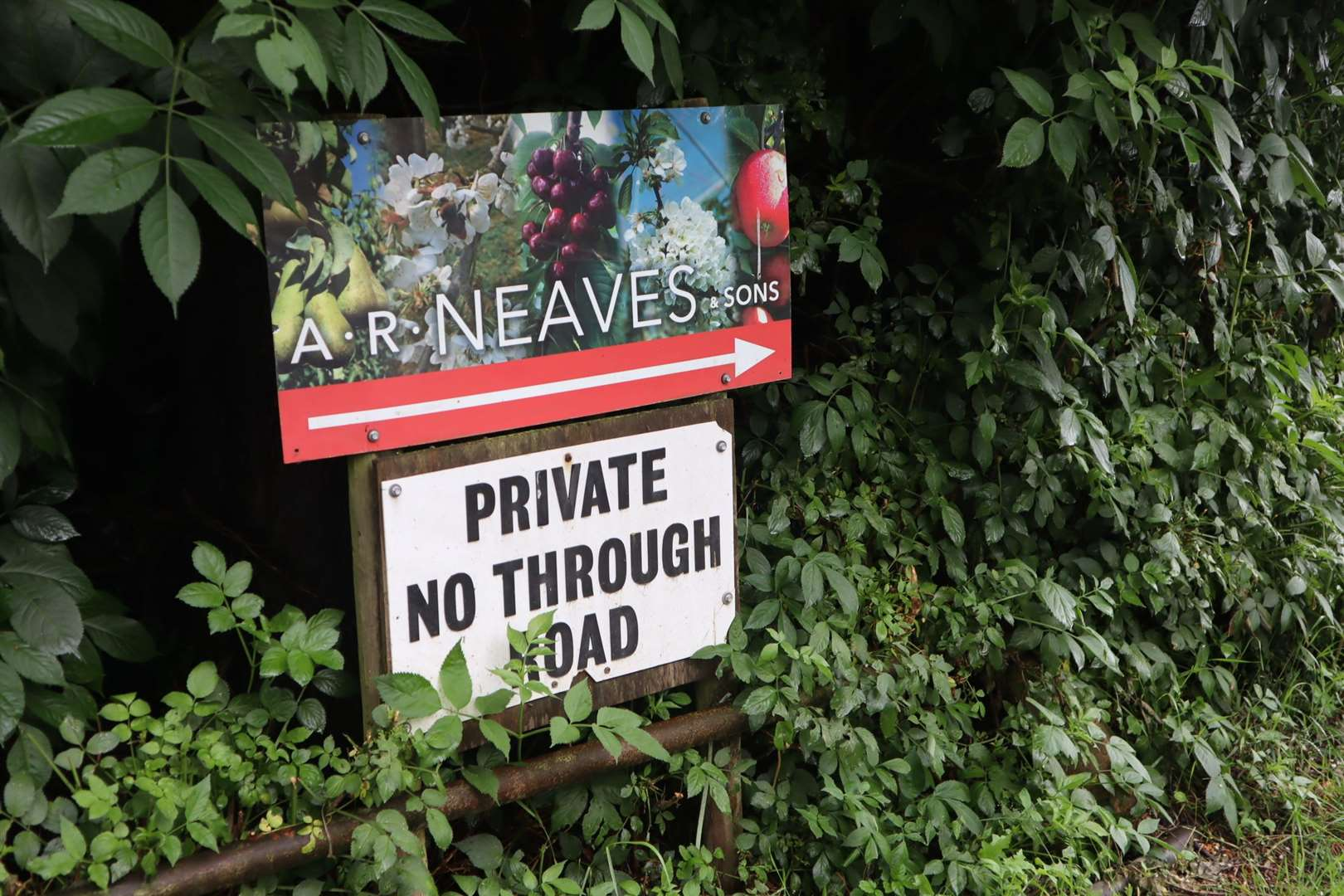 Sign at Little Sharsted Farm, Doddington, Sittingbourne