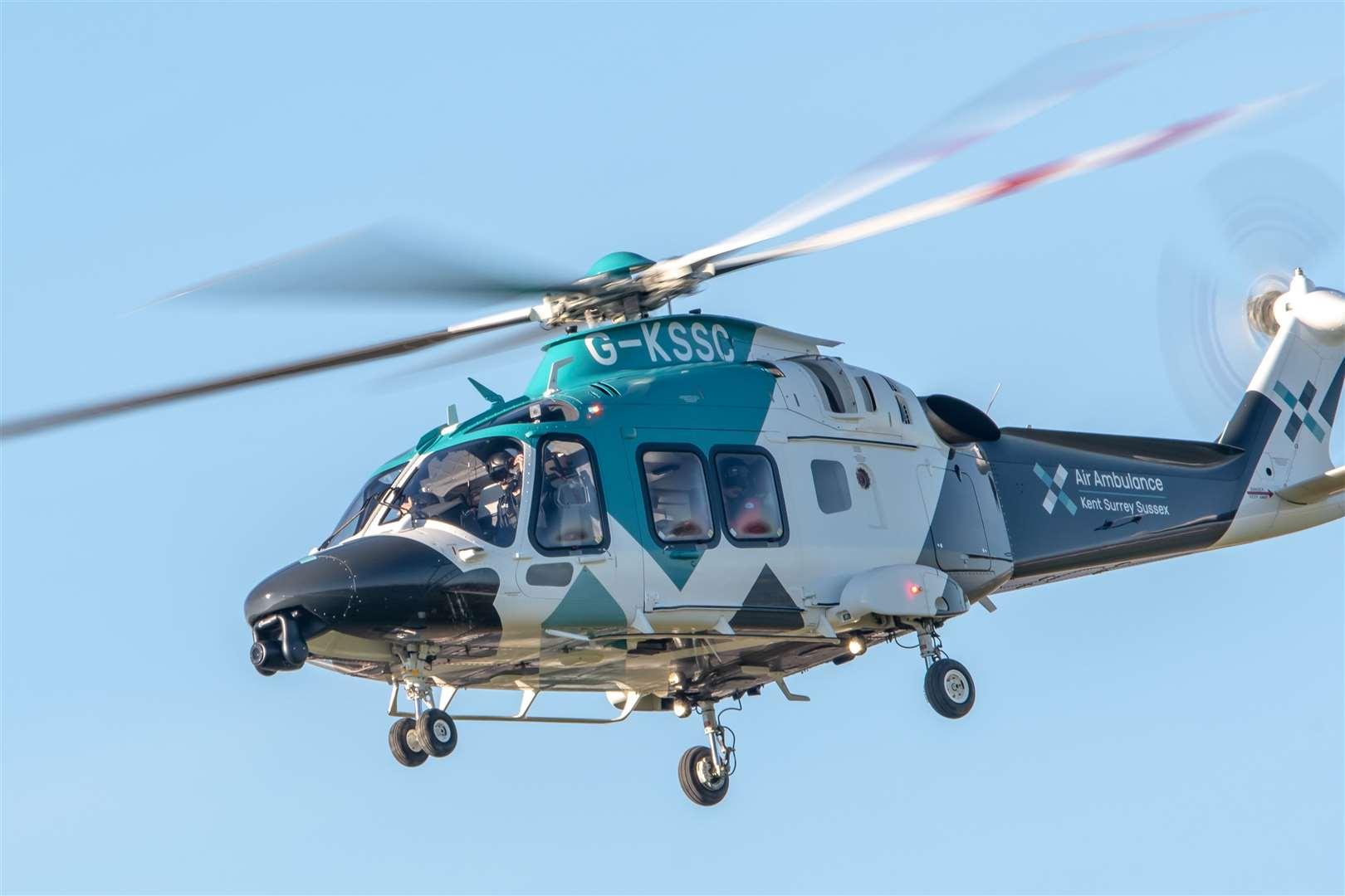 Air Ambulance Kent Surrey Sussex. Stock