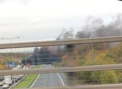 Smoke seen over the M2