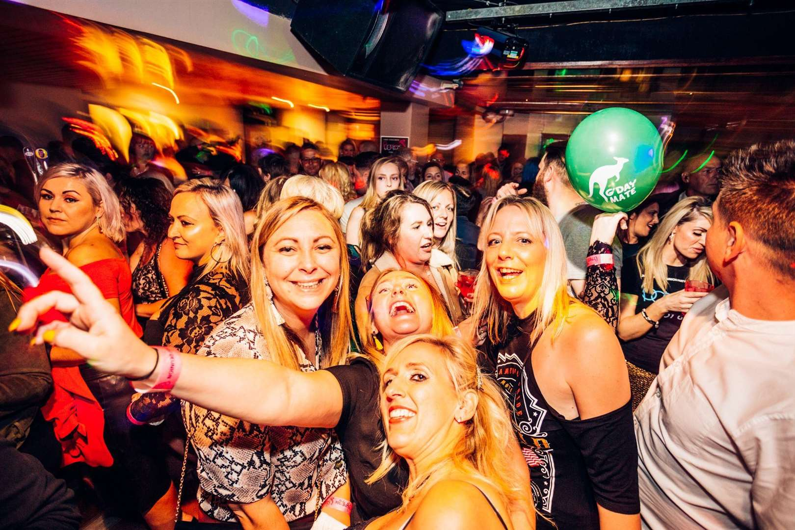 Party-goers celebrate at the Priz reunion. Picture: Dan Desborough Photography