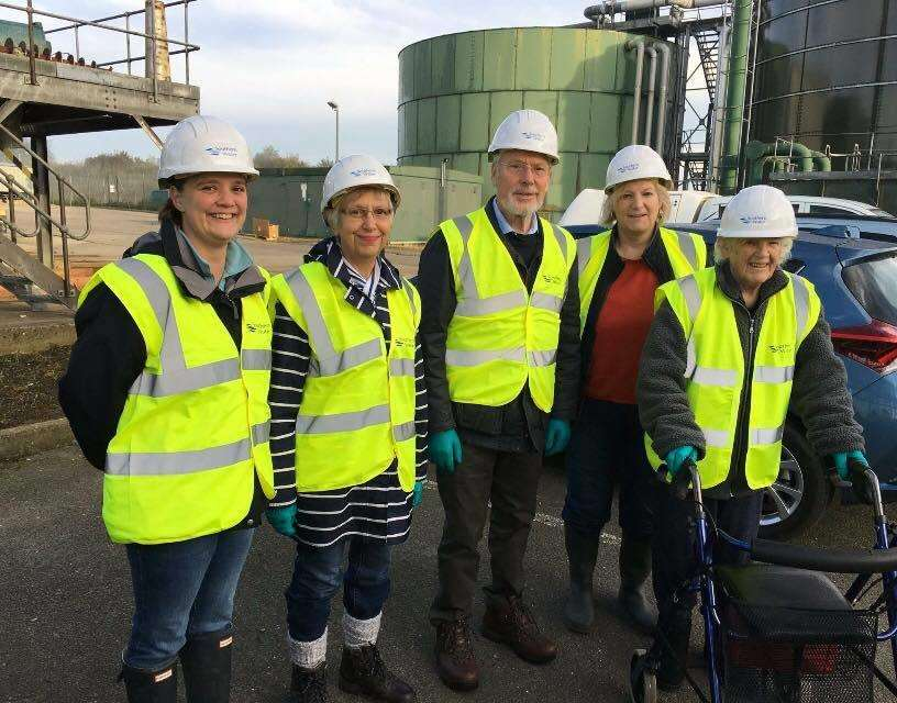 Residents and councillors visited the Southern Water sewage treatment works in Kinney's Lane, Ashford, in October last year