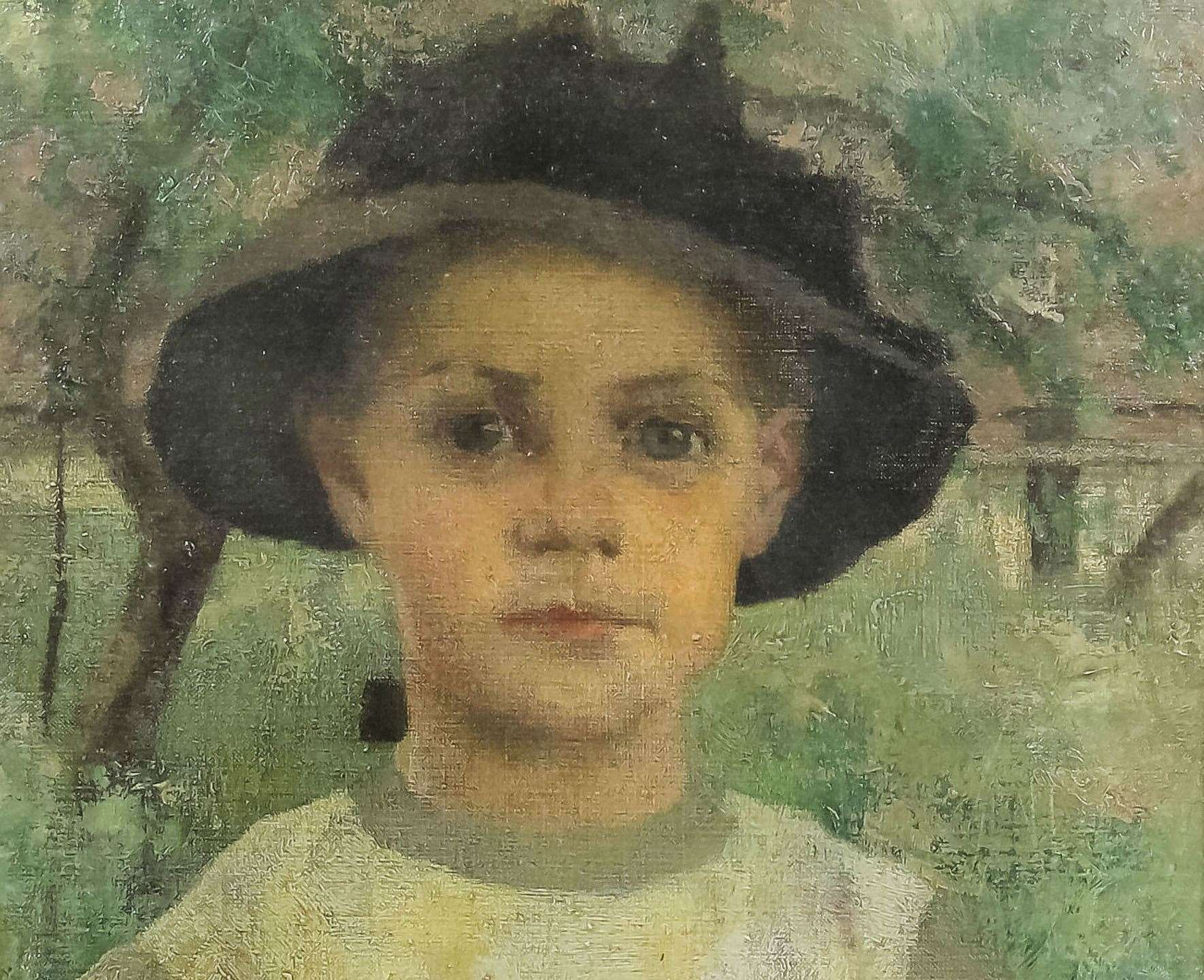 A portrait in oils by Maurice William Greiffenhagen sold for £24,000, a world record for the artist
