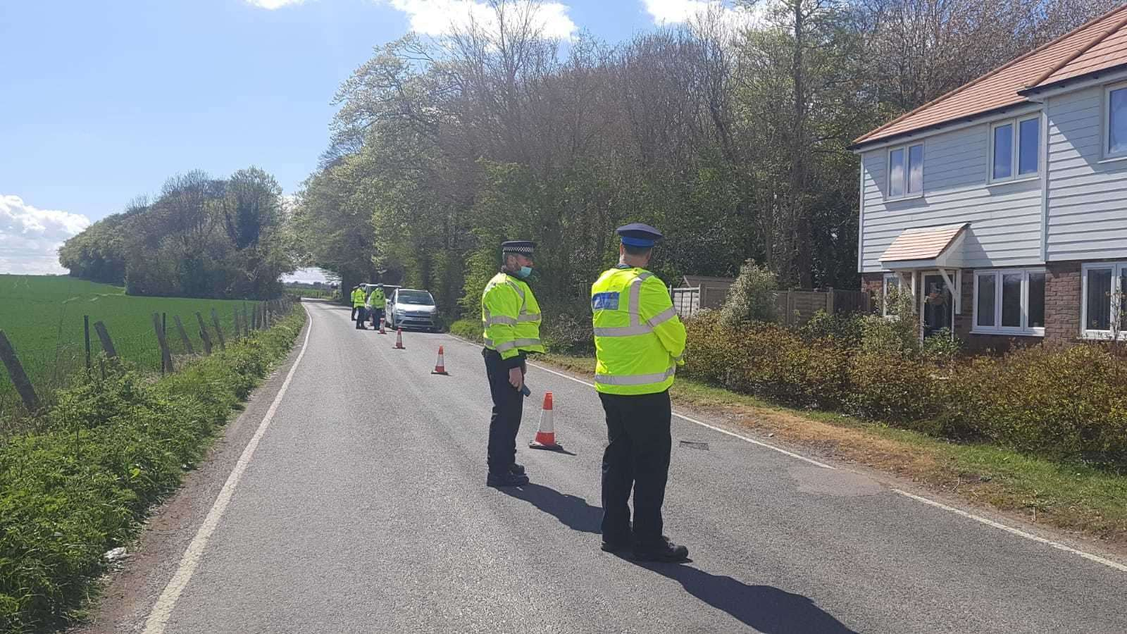 A road block has been put in place in Snowdown as part of the murder investigation into Julia James' death