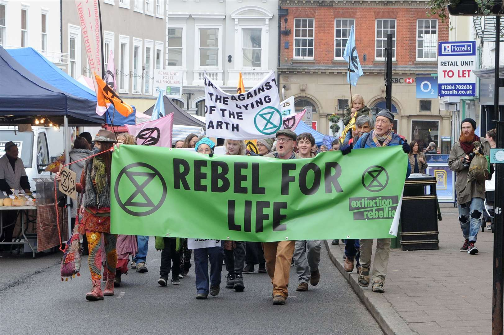 Extinction Rebellion is a non-violent protest organisation which is trying to get the government to do something about climate change.