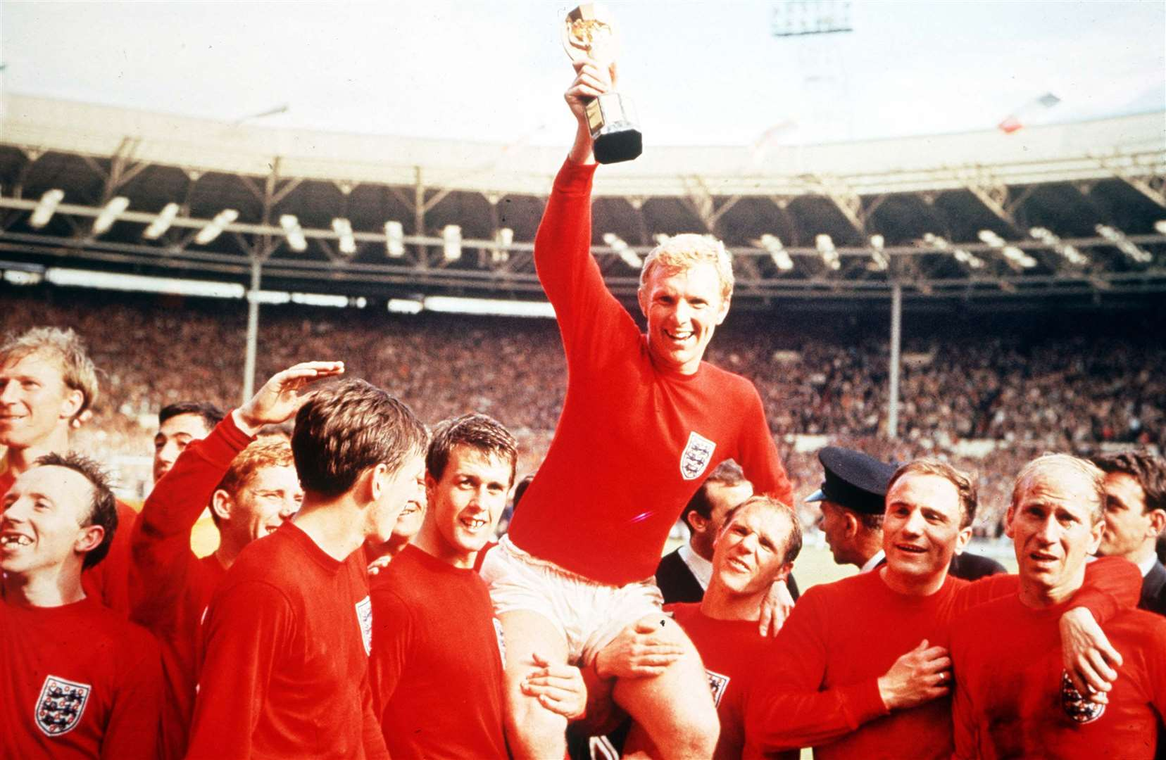 The 1966 World Cup is the subject of Question No.9 Picture: Popperfoto/Getty Images