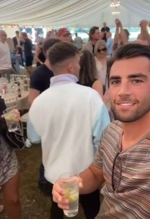 Love Island winner Jack Fincham was at the event on Bank Holiday Monday. Picture: Instagram/Jack Fincham