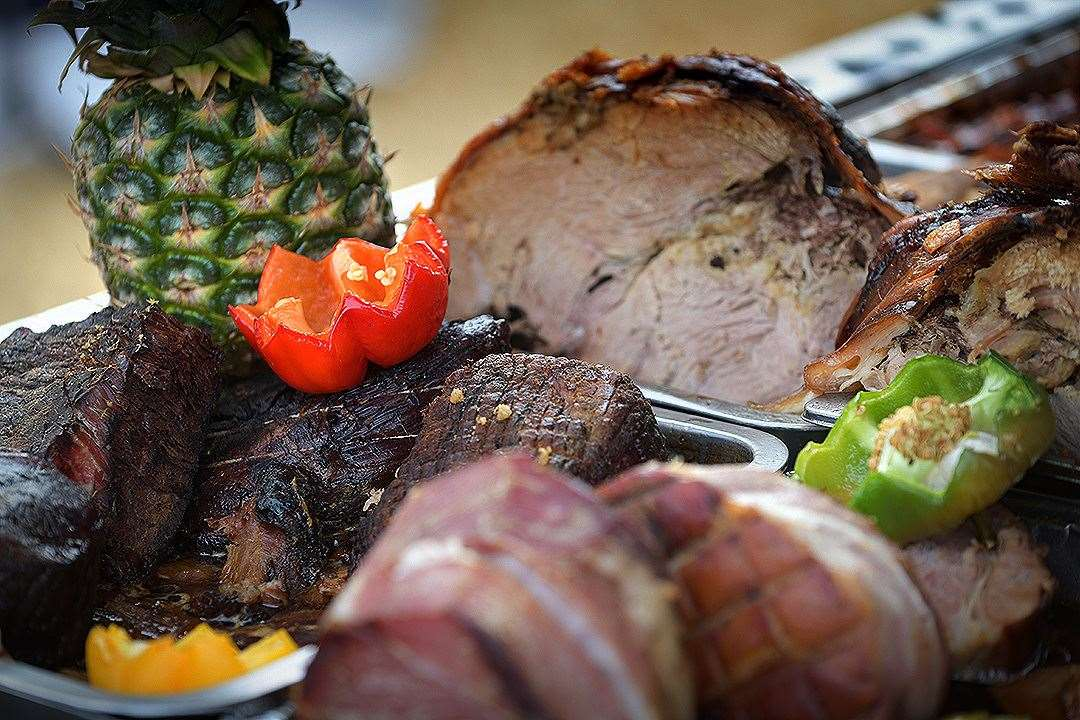 Succulent meats are being cooked on site at the Late Summer Market near Deal Castle this weekend