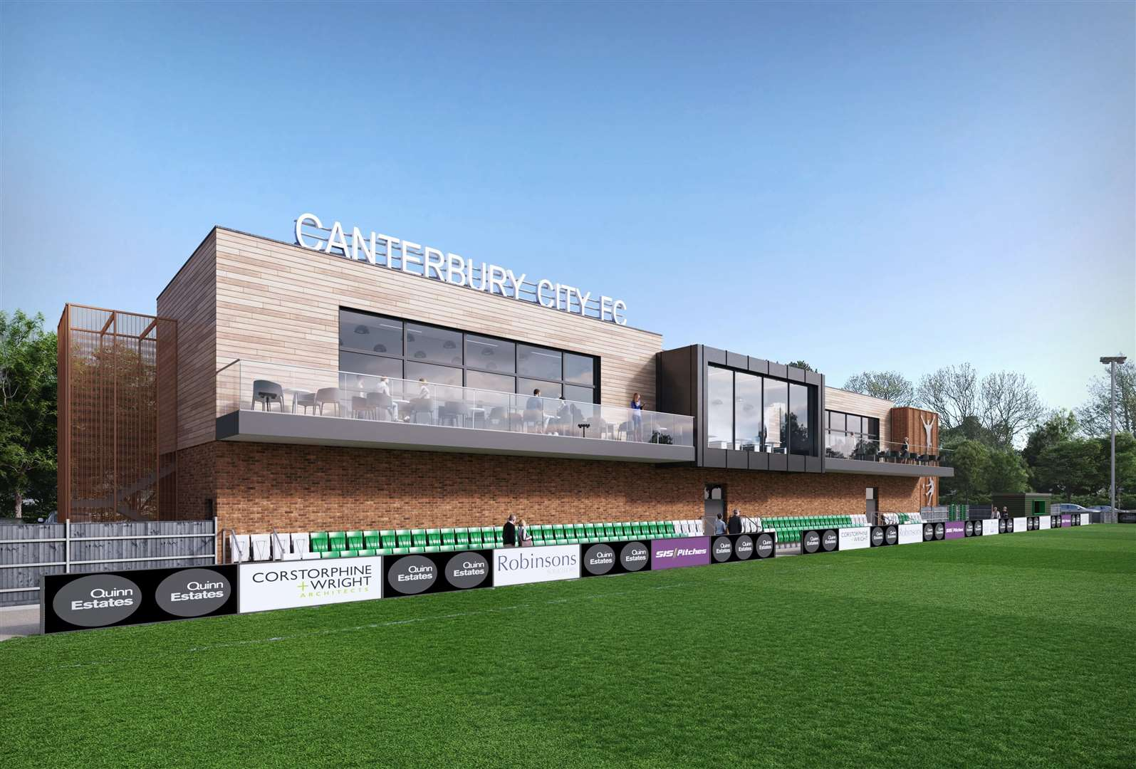 CGI of Canterbury City Football Club's proposed new stadium at Highland Court Farm. Picture: Quinn Estates. (6860916)