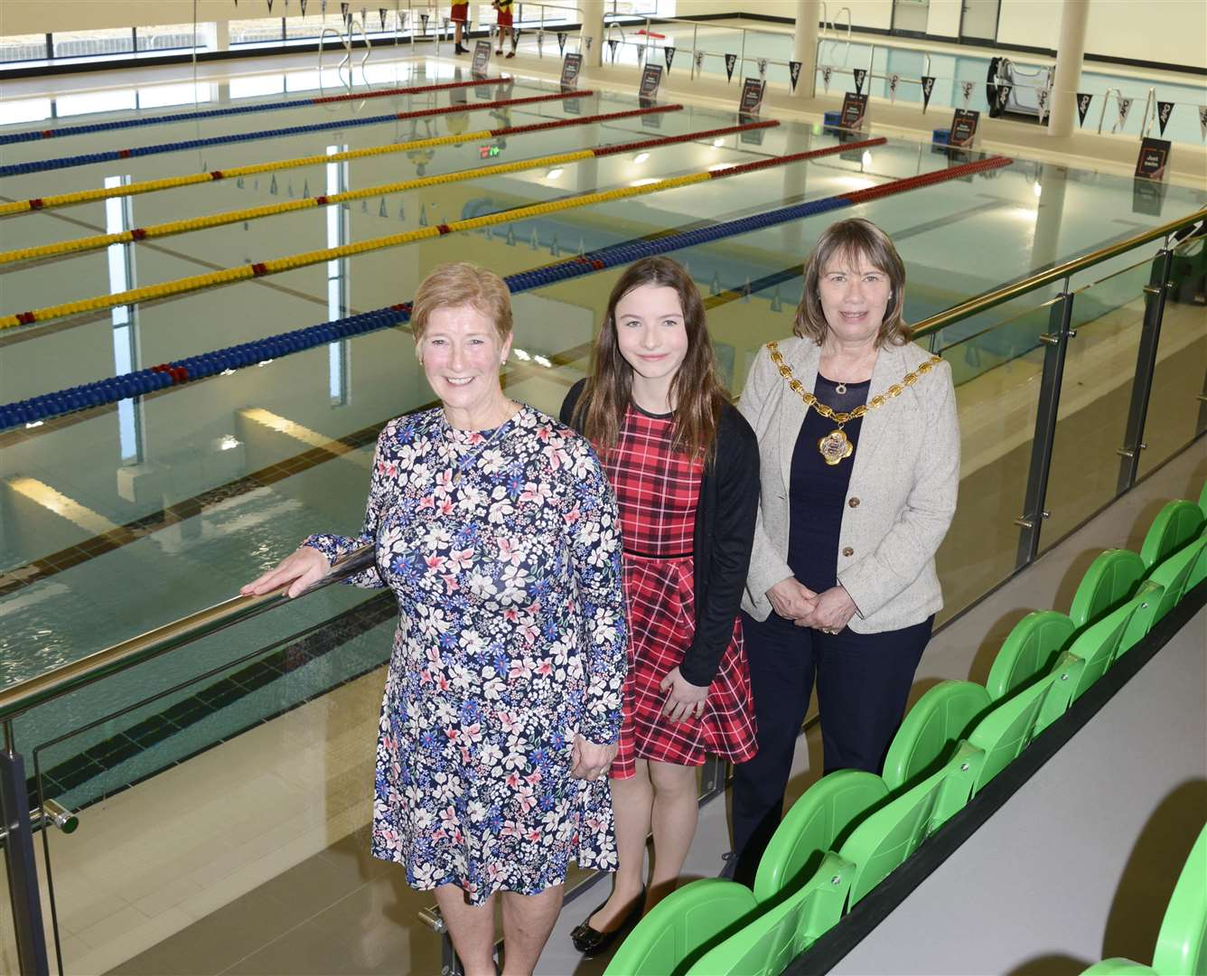 Sue Chandler, Emily Rose Evans and Gloria Riley at the new centre. Picture: Paul Amos