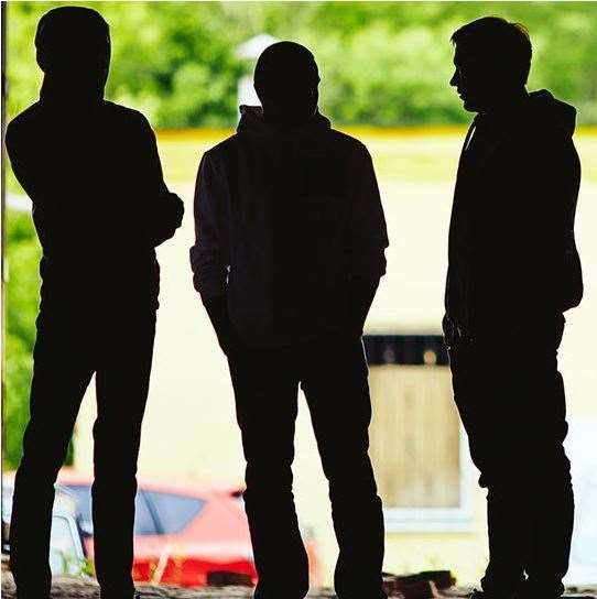 A group of youths cornered a 12-year-old boy and mugged him