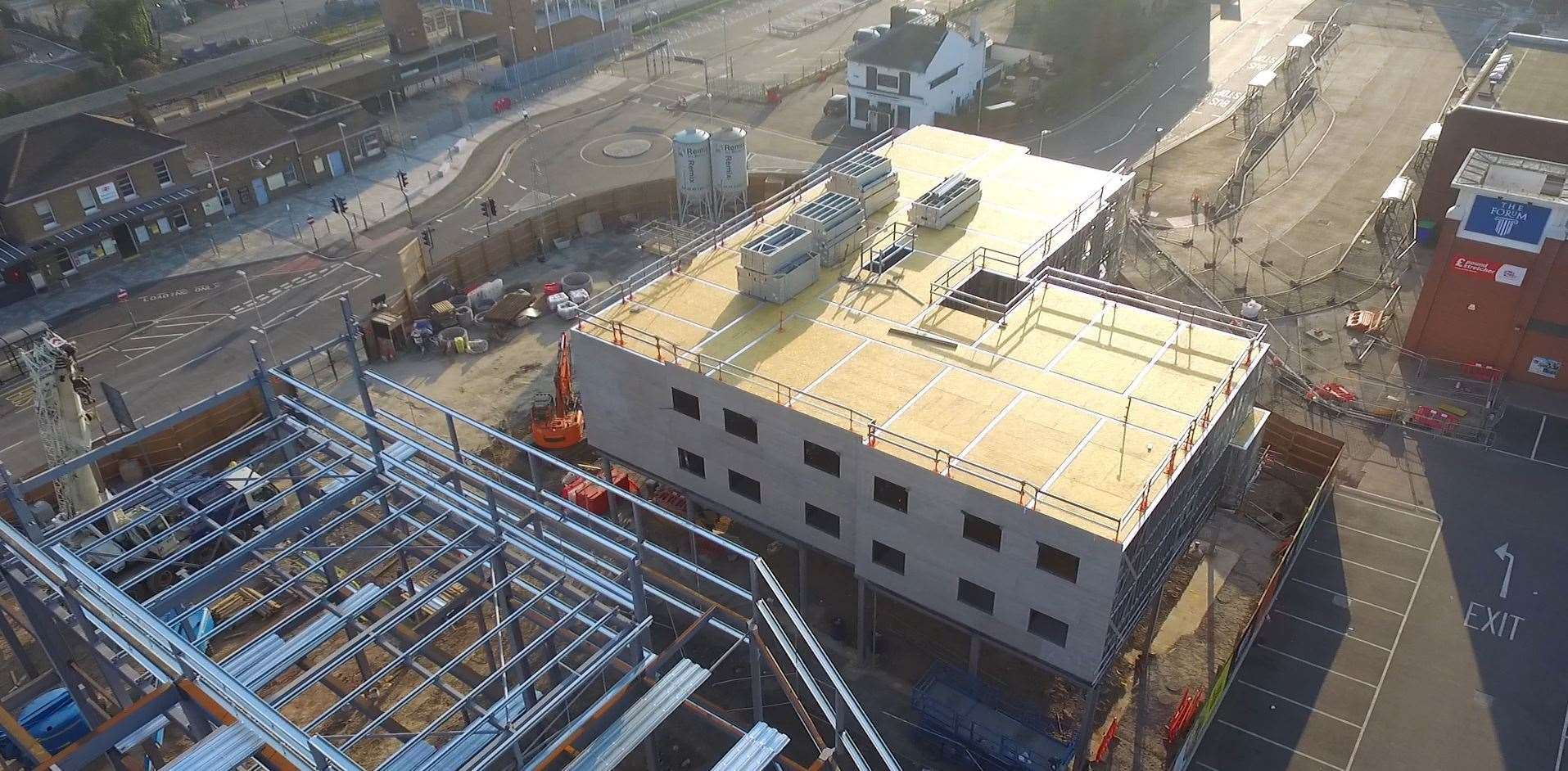 An aerial image of when work was being done on the new hotel in Sittingbourne. Picture: Mark Savage