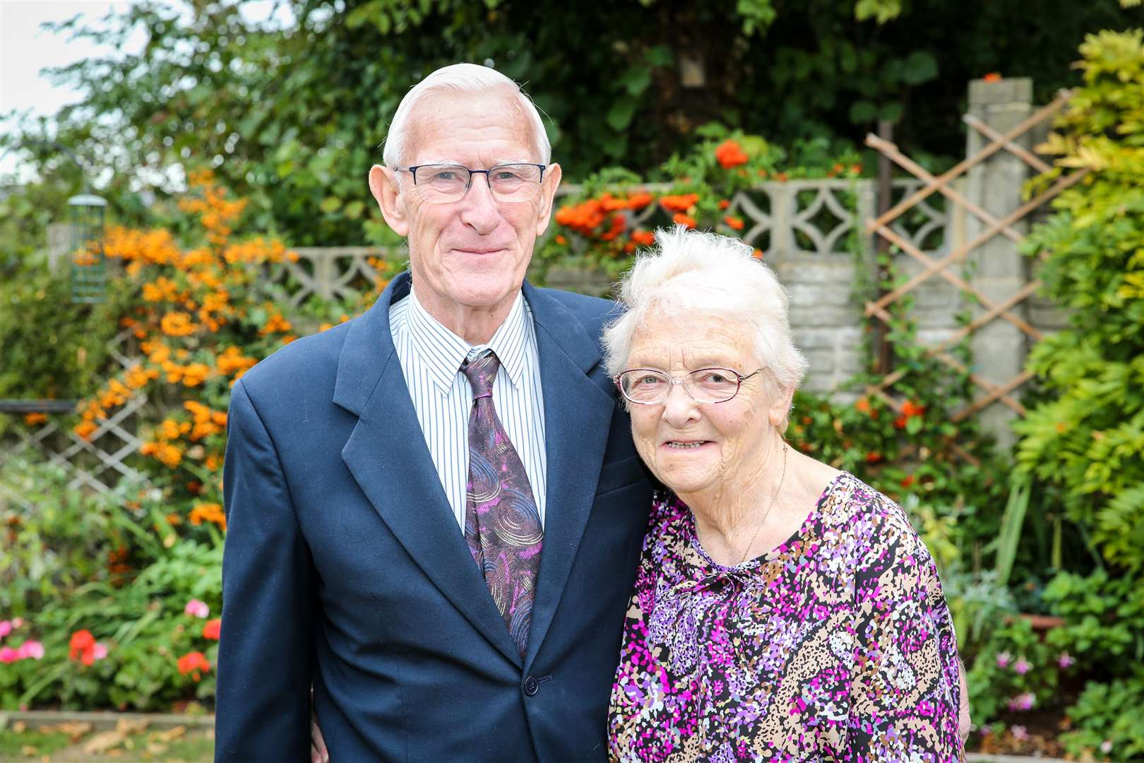 Kay and Peter Harris from Rochester celebrating their 60th wedding anniversary. Feature. Picture: Matthew Walker. (4669390)