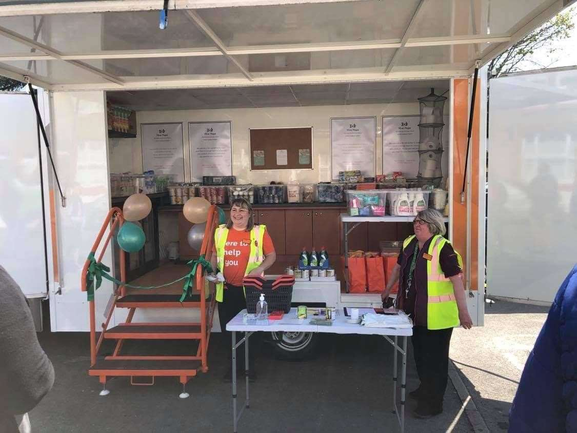 Barry the Mobile Foodbank will travel to those in need around Gravesham