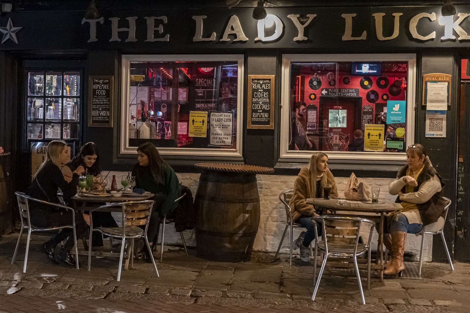 It was last orders at the Lady Luck until December. Pictures: Jo Court