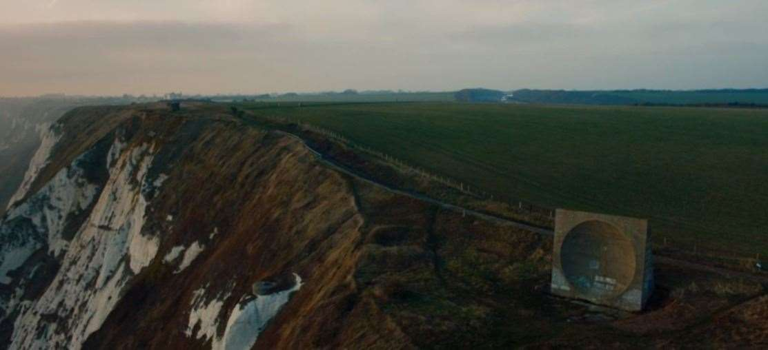 The Abbot's Cliff sound mirror on the White Cliffs of Dover is also a regular sight in series one and two