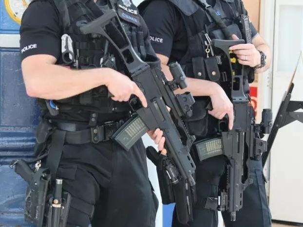 Armed police were called to the scene. Stock image