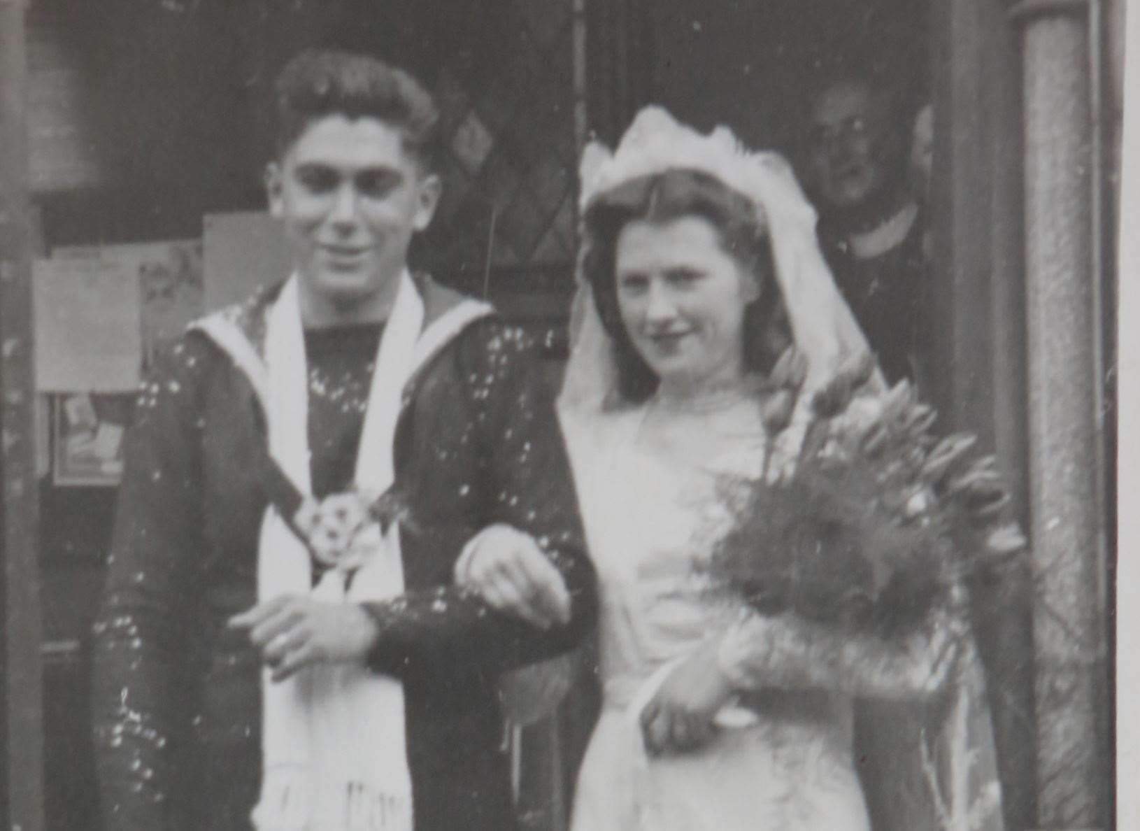 David and Enid Janaway on their wedding day in 1949